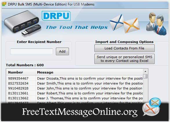 Screenshot of SMS GSM Modem